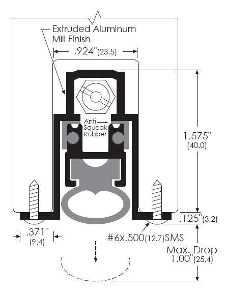 Heavy Duty Automatic Door Bottom Mortised Sound Proofing Automatic Door Door Saddle
