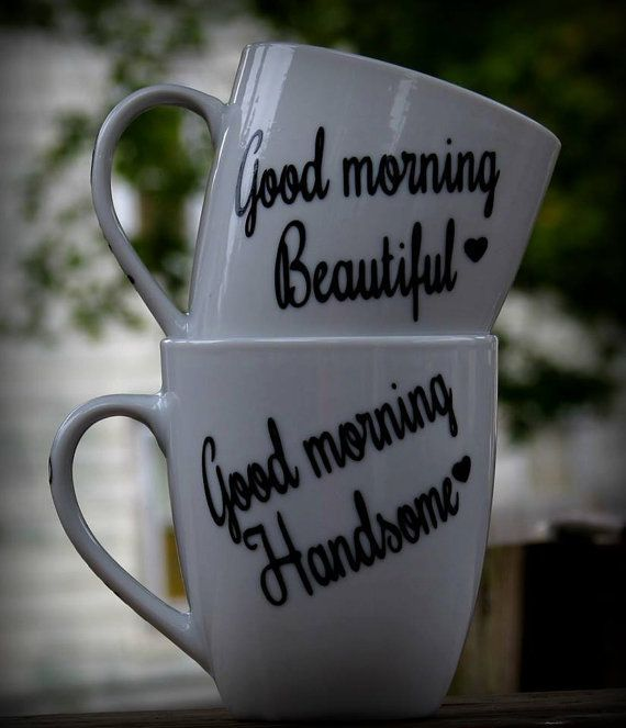 Good Morning Beautiful, Good Morning Handsome Coffee Mug, Set of 2 sweetest day gift sets #sweetestdaygiftsforboyfriend This is for a set of 2 mugs His and her gifts. Good morning handsome, Good morning beautiful custom coffee mugs. This would make a great girlfriend gift, boyfriend gift, husband gift, Wife gift, sweetest day gift valentines day gift, birthday gift or for any occasion. PERSONALIZATION INSTRUCTIONS::::::::::::::: Please provide a note at checkout with any changes you would like