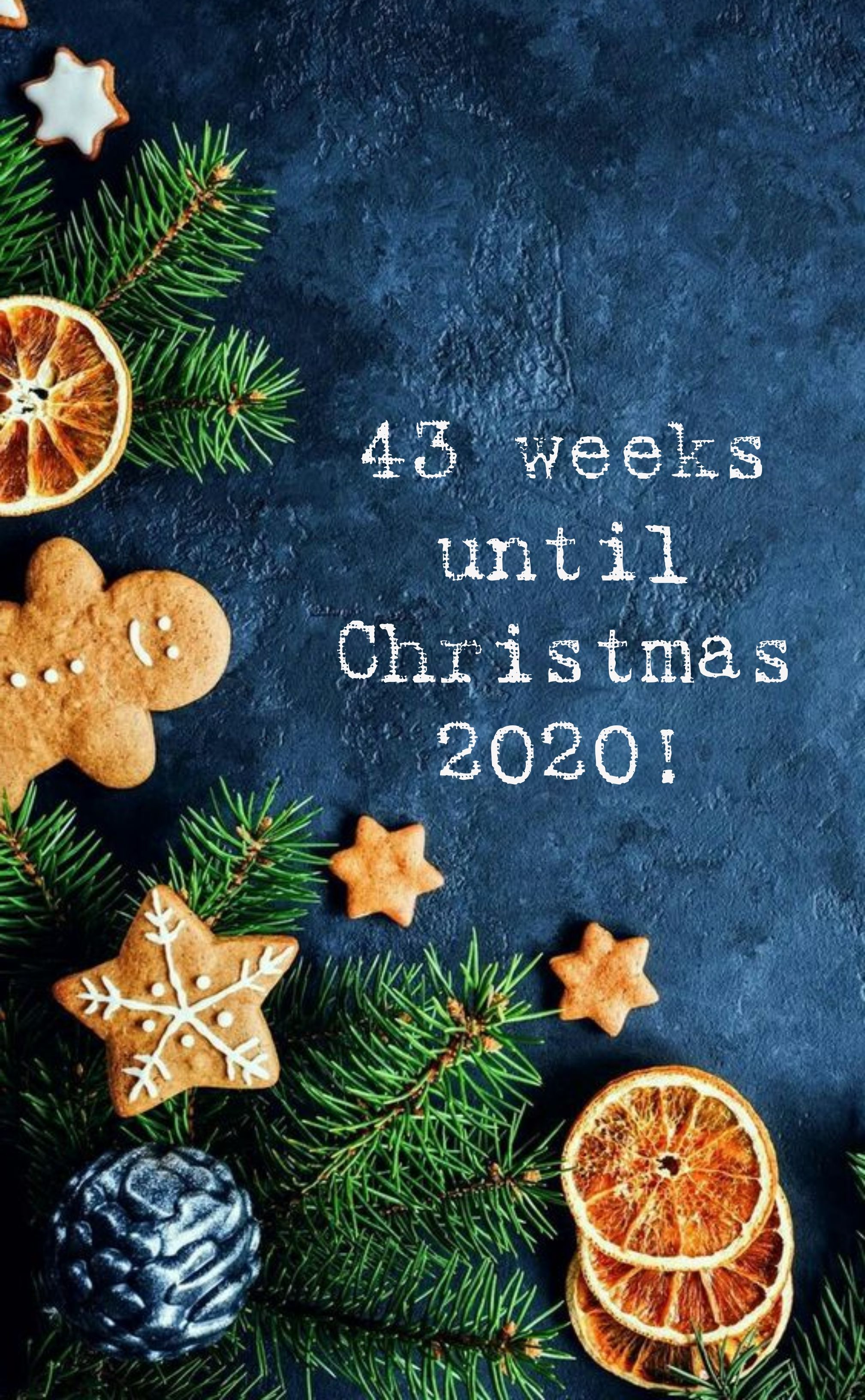 Fabric With Count Down For Christmas 2020 43 weeks until Christmas 2020 | Weeks until christmas, Christmas