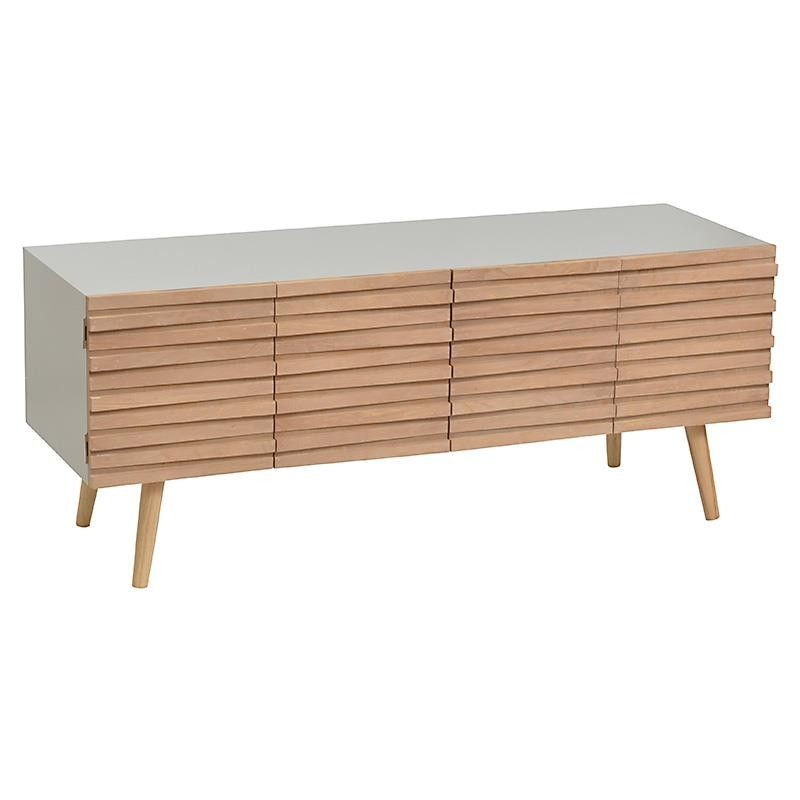 Wooden Stand Tv In Grey Beige Color 120x40x48 Drawers Consoles