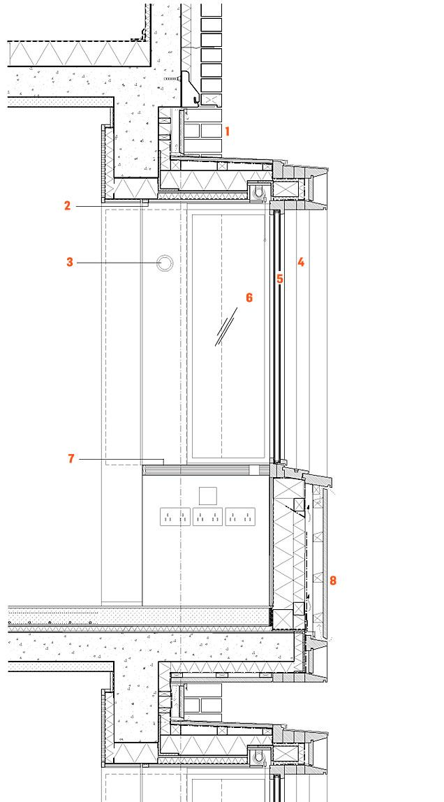 Concrete wall section detail google search technical for Bay window plan detail