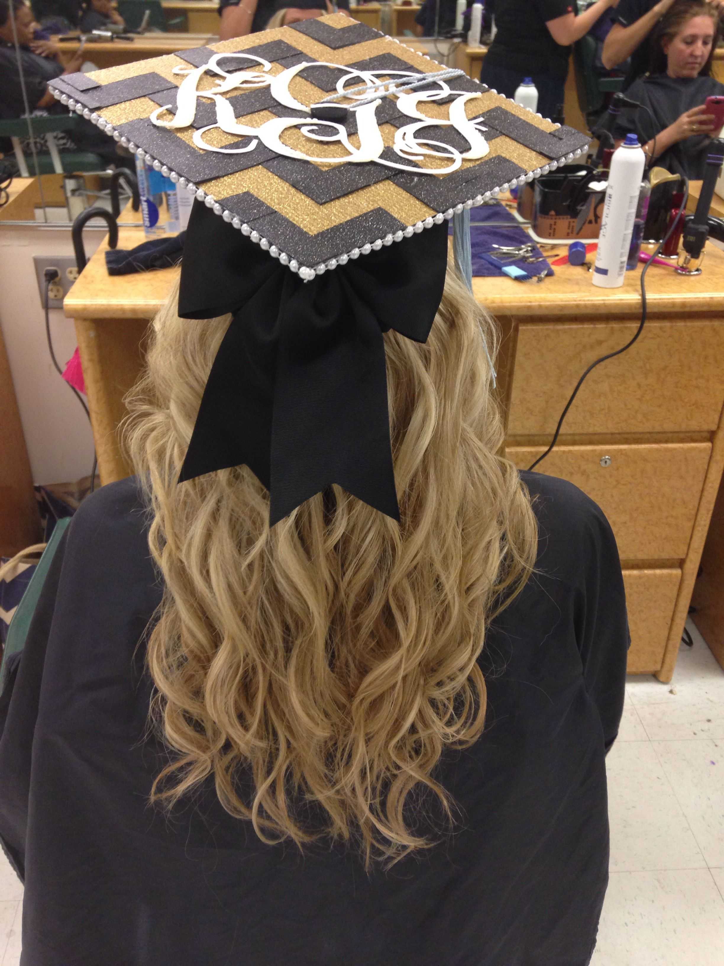 Graduation hair & graduation cap UCF My Style
