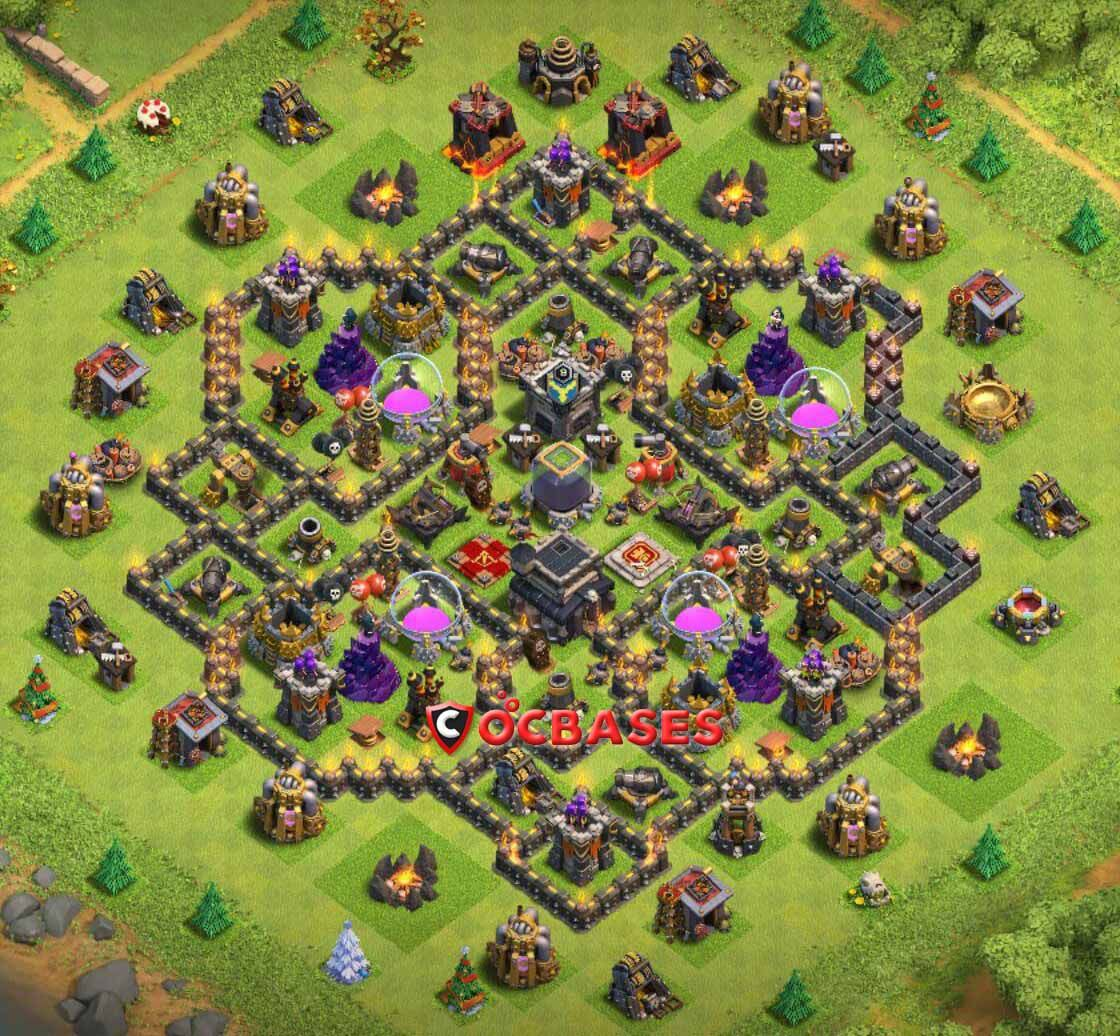Base Coc Th 9 Defense 5
