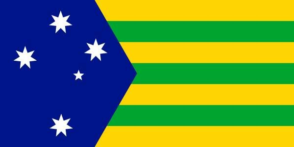 Southern Wattle Flag _ Design: Harvey Thorpe (2018) | New Australian ...