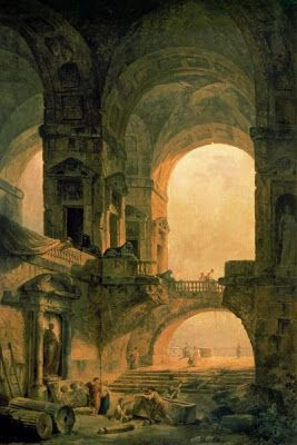 THOUGHTS ON ARCHITECTURE AND URBANISM: The beauty of Hubert Robert´s ruins paintings