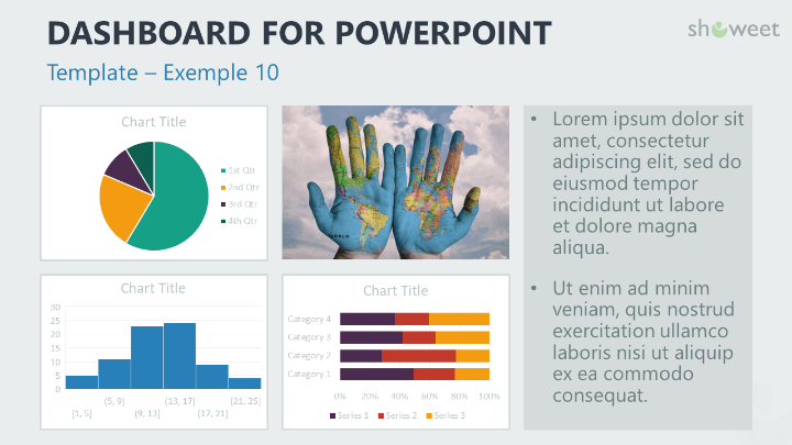 Dashboard Templates For Powerpoint Dashboard Template Template