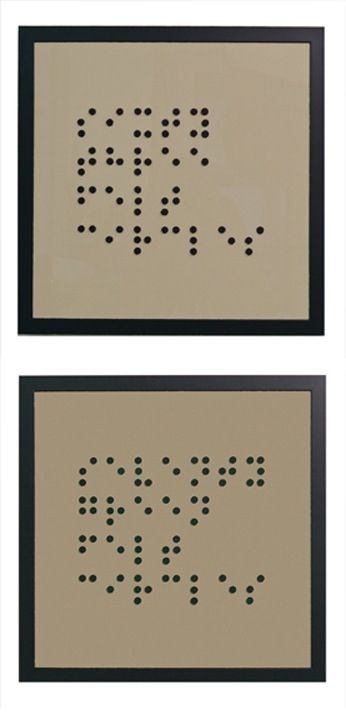 Braille Art | Beauty of Braille | Artwork, Contemporary art, Art
