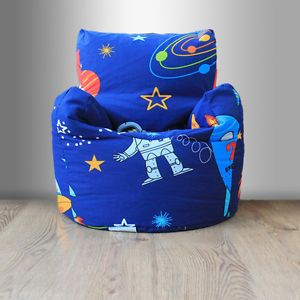Awesome Childrens Beanbag Chair Space Boy Planet Rocket Kids Andrewgaddart Wooden Chair Designs For Living Room Andrewgaddartcom