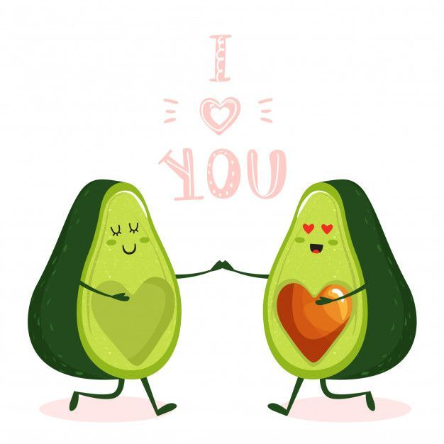 Cute Cartoon Avocado Couple Character Premium Vector Free Vector Freepik Vector Freecartel Freecorazon Fr Cute Avocado Avocado Art Cute Kawaii Drawings