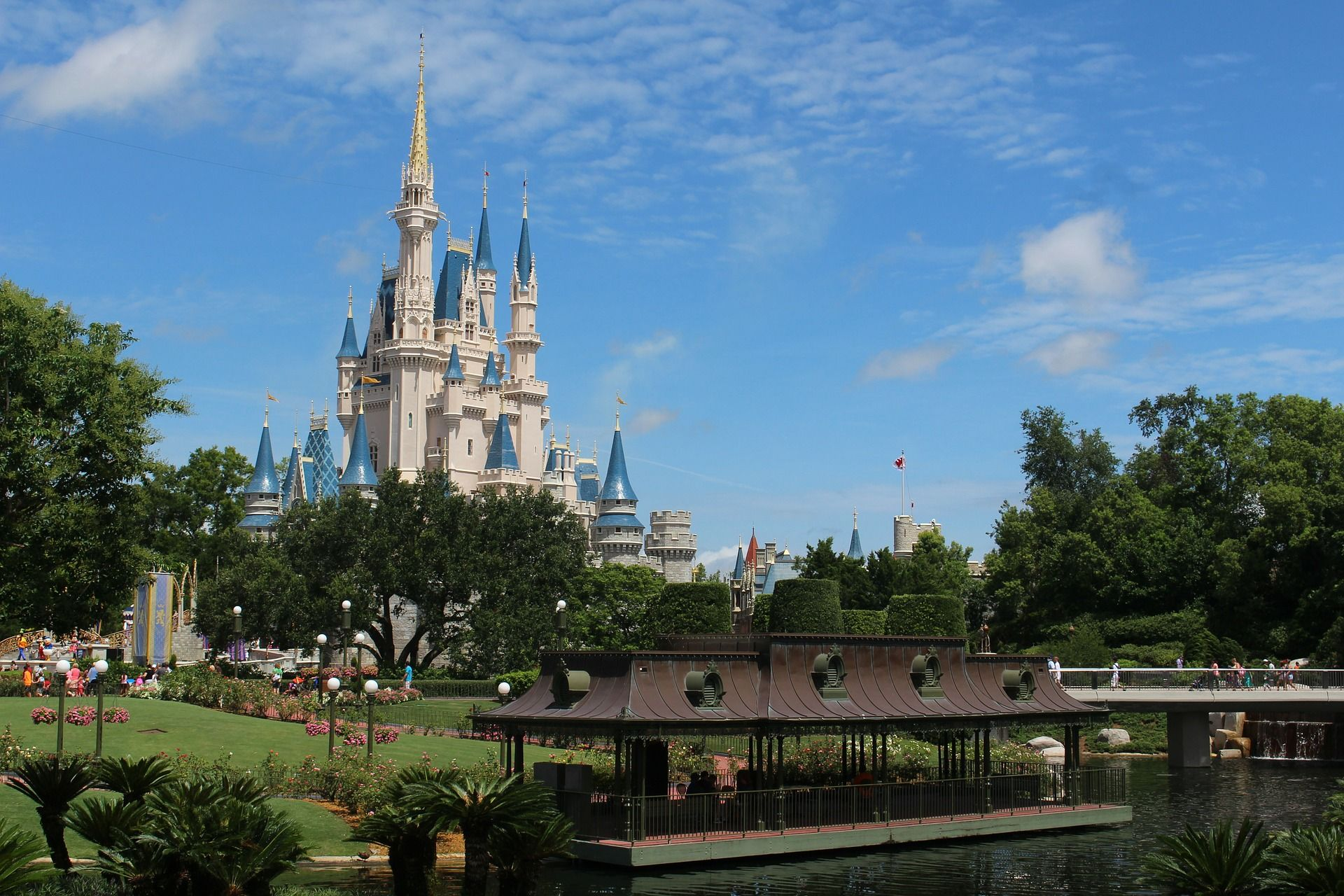 Disney Castle with river view