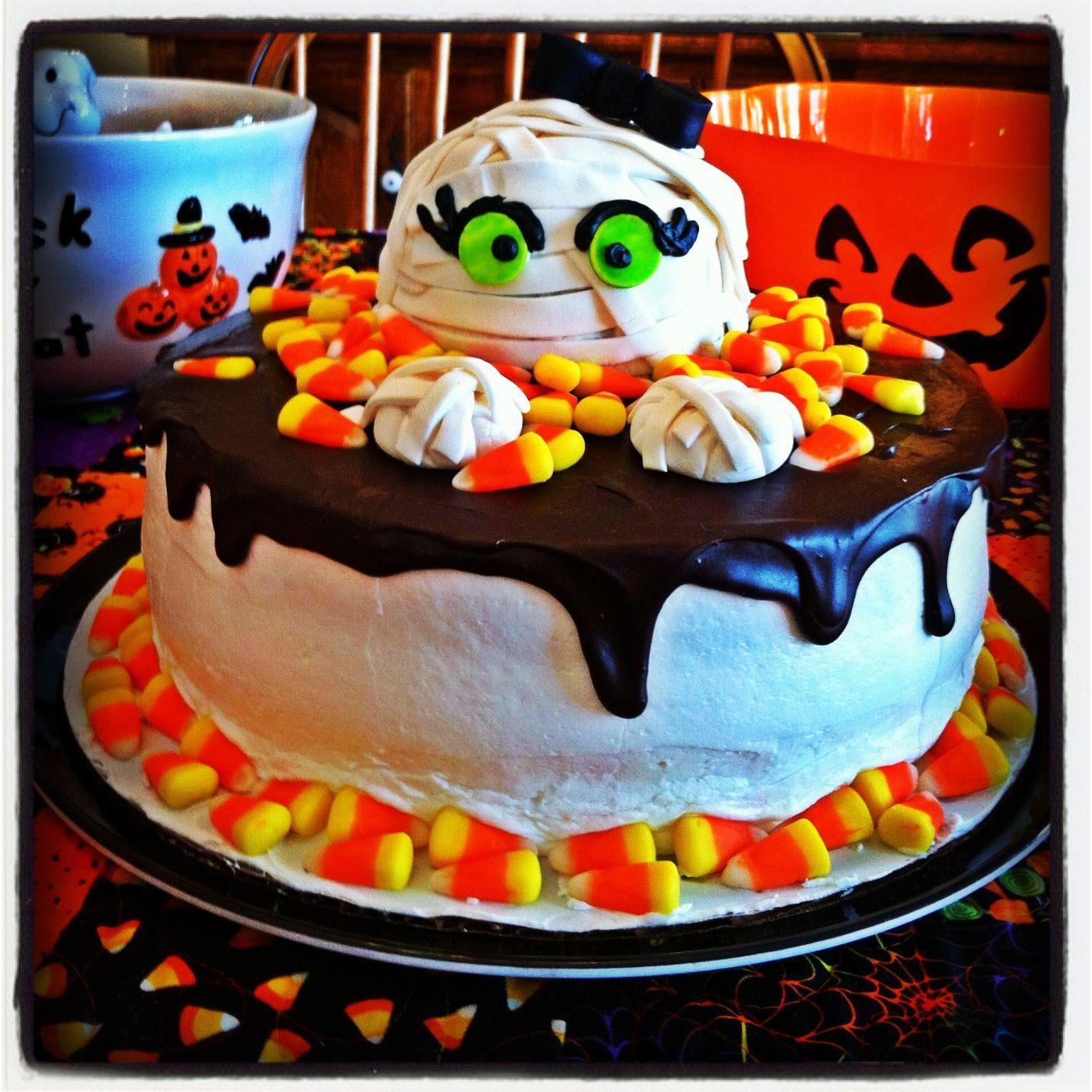 my baby girls halloween birthday cake - Baby Halloween Birthday Party
