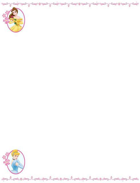Bordes Decorativos: Bordes decorativos de Princesas Disney para imprim...