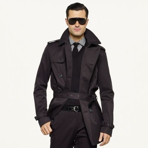 9079b60b Ralph Lauren Black Label Twill Trench Coat | cloaked | Coat ...
