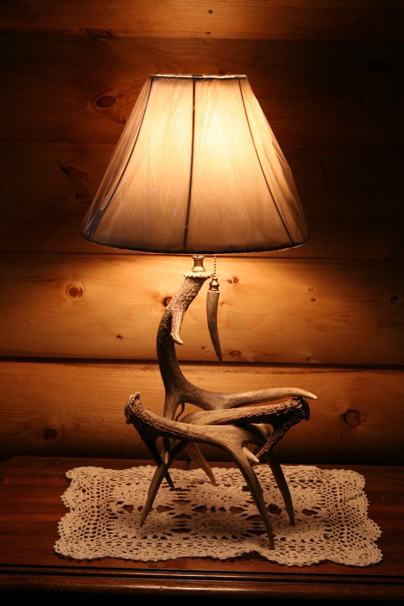 deer horn lamp for the home pinterest