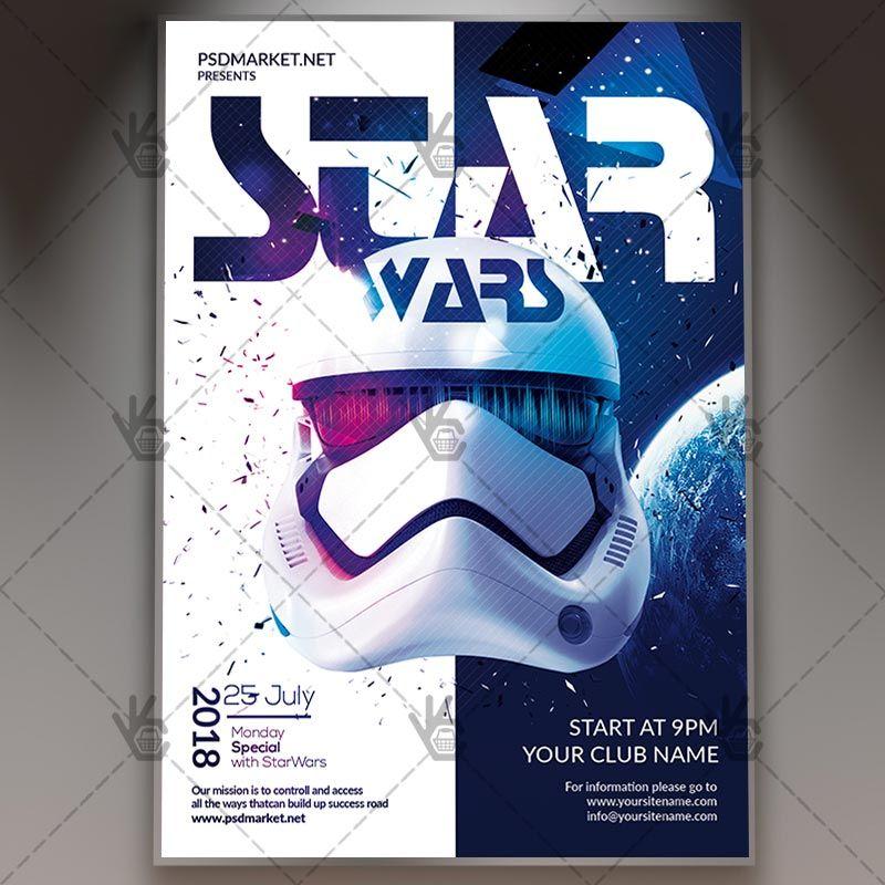 Star Wars Club Flyer Psd Template Psdmarket Flyer Club Flyers Star Wars