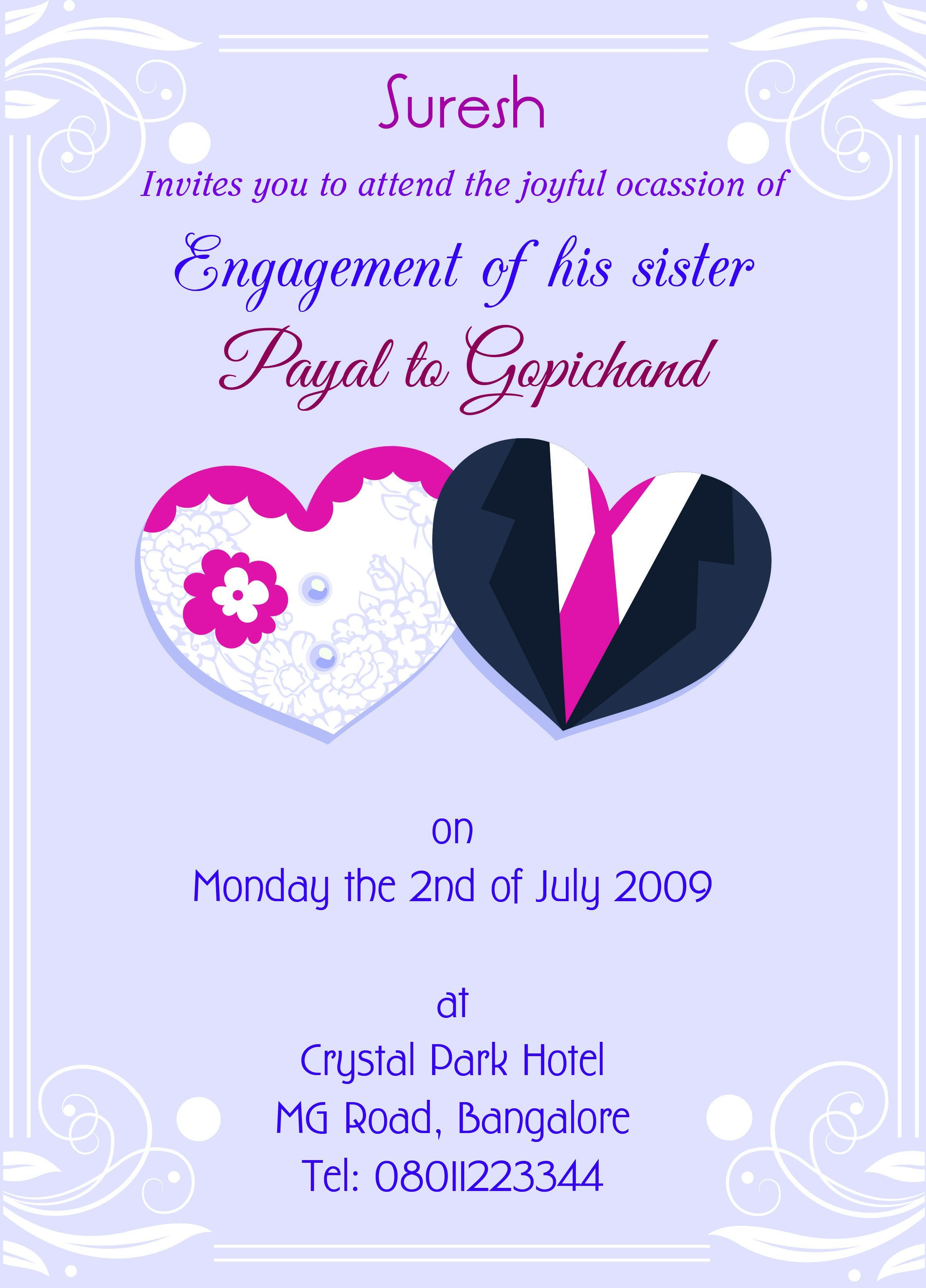 Marriage Invitation Card Format In English Pdf With Images