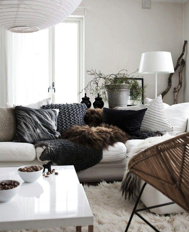 Quelques idées pour un intérieur cosy Salons, Salon cosy and