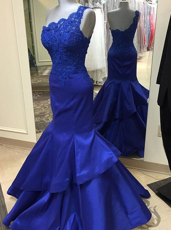 $153.99 Gorgeous One-shoulder Long Mermaid Prom Dress/Evening Dress