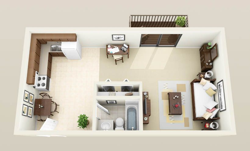 300 Square Foot House | Bedroom Apartments In Madison, WI | Floor Plans