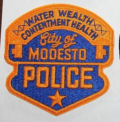 City Of Modesto Police Reserve Stanislaus County California Ca Pd Used Worn 8 99 Stanislaus County Police Modesto