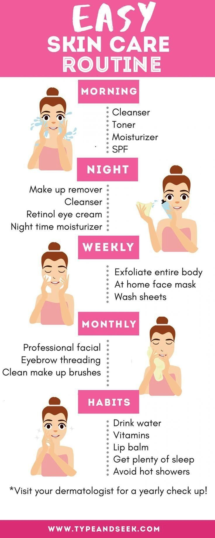 Skin Care Routine That Works WondersEasy Skin Care Routine That Works Wonders Best skin care routines and how to keep your skin looking its best Taking Care Of Yourself P...