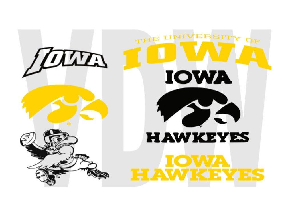 Iowa Hawkeyes Cutting Files Silhouette Svg Dxf And Eps Vinyl Cut