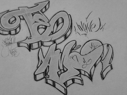 Dibujos Faciles Para Hacerle A La Mm Graffitis | Diccionario en ...