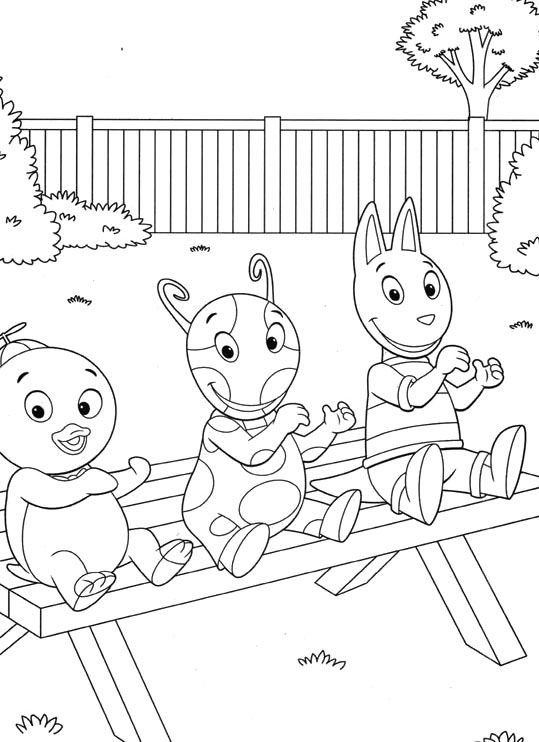 Backyardigans Austin And Her Friend Coloring Pages | Kiddo Projects ...