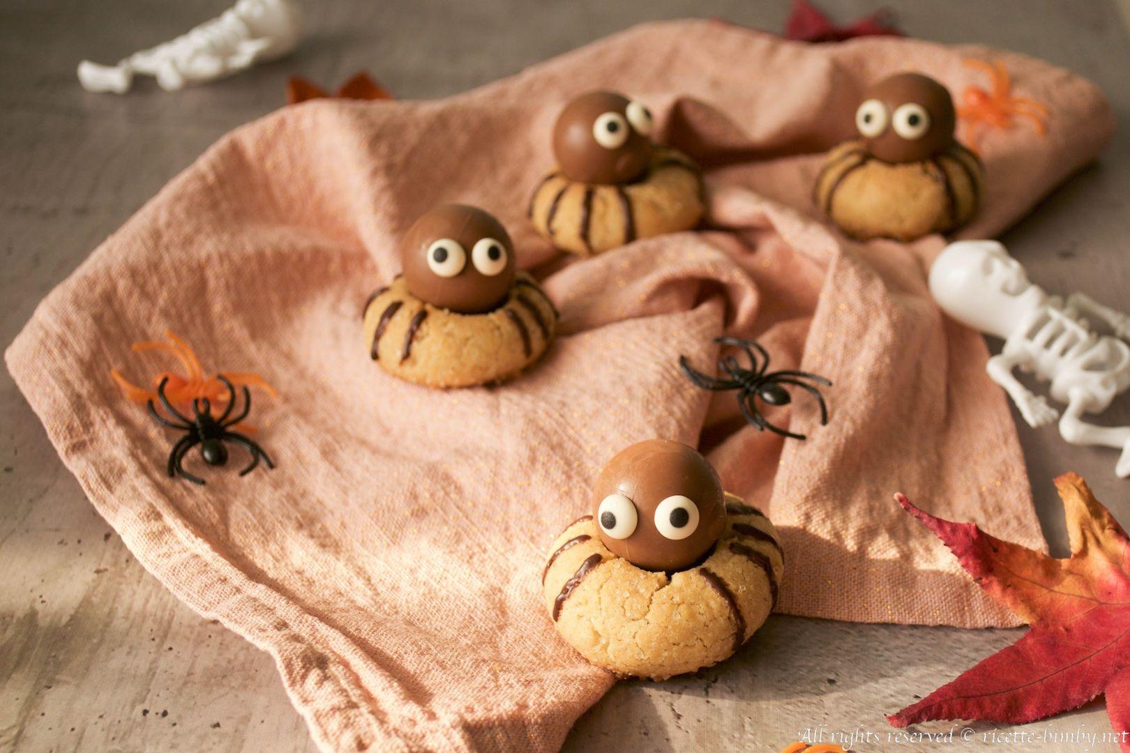 Biscotti Ragno di Halloween Bimby • Ricette Bimby