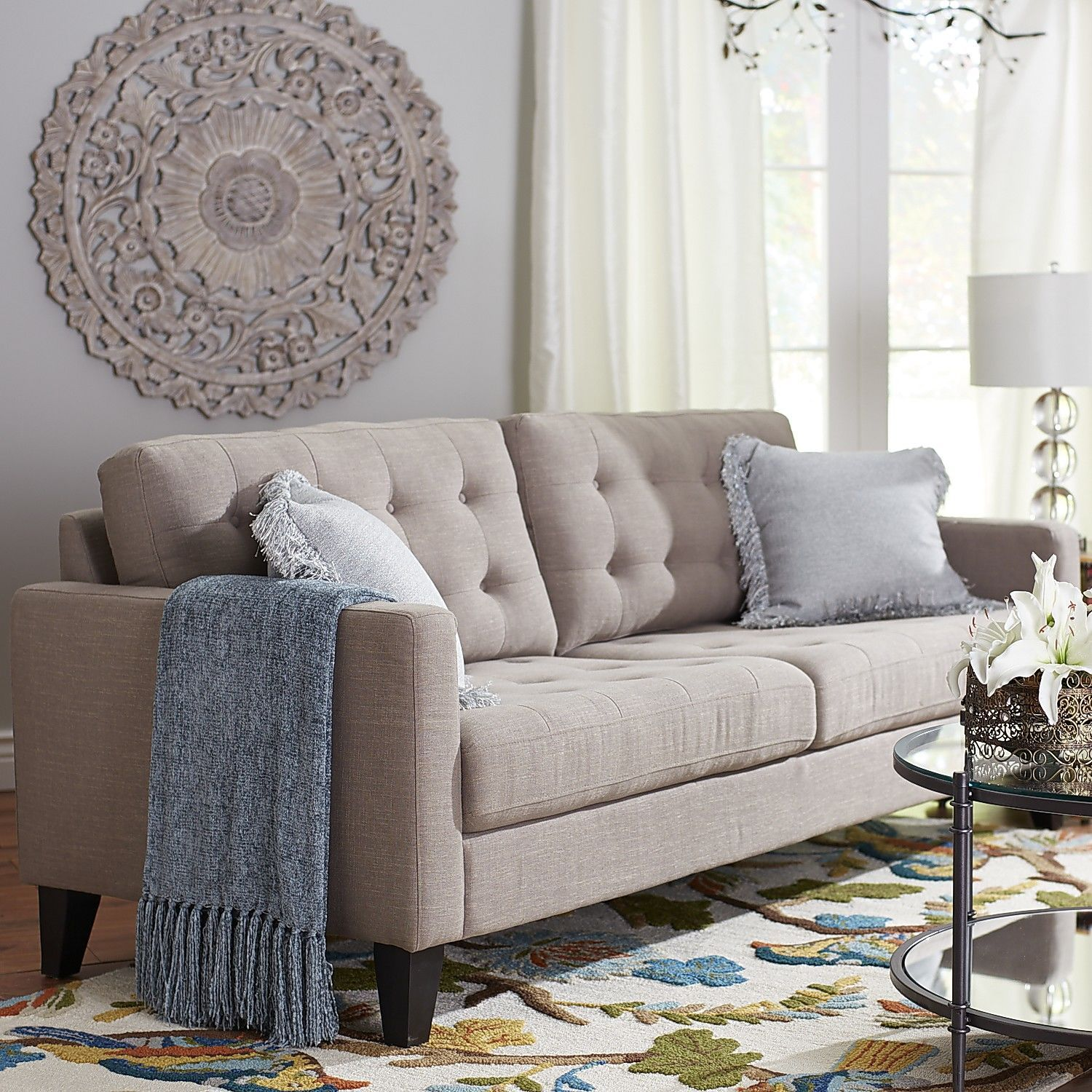 Nyle Sofa Putty Pier 1 Imports