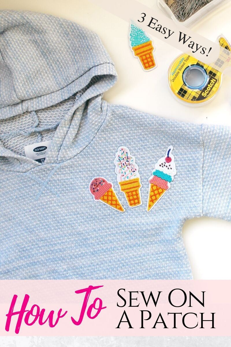 How To Sew On A Patch 3 Simple Ways Diy clothes