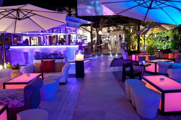 glowing outdoor patio bar  lounge  Dream House