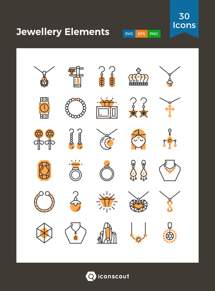 Download Jewellery Elements Icon Pack Available In Svg Png Eps Ai Icon Fonts Icon Jewelry Jewelry Logo Ideas Icon