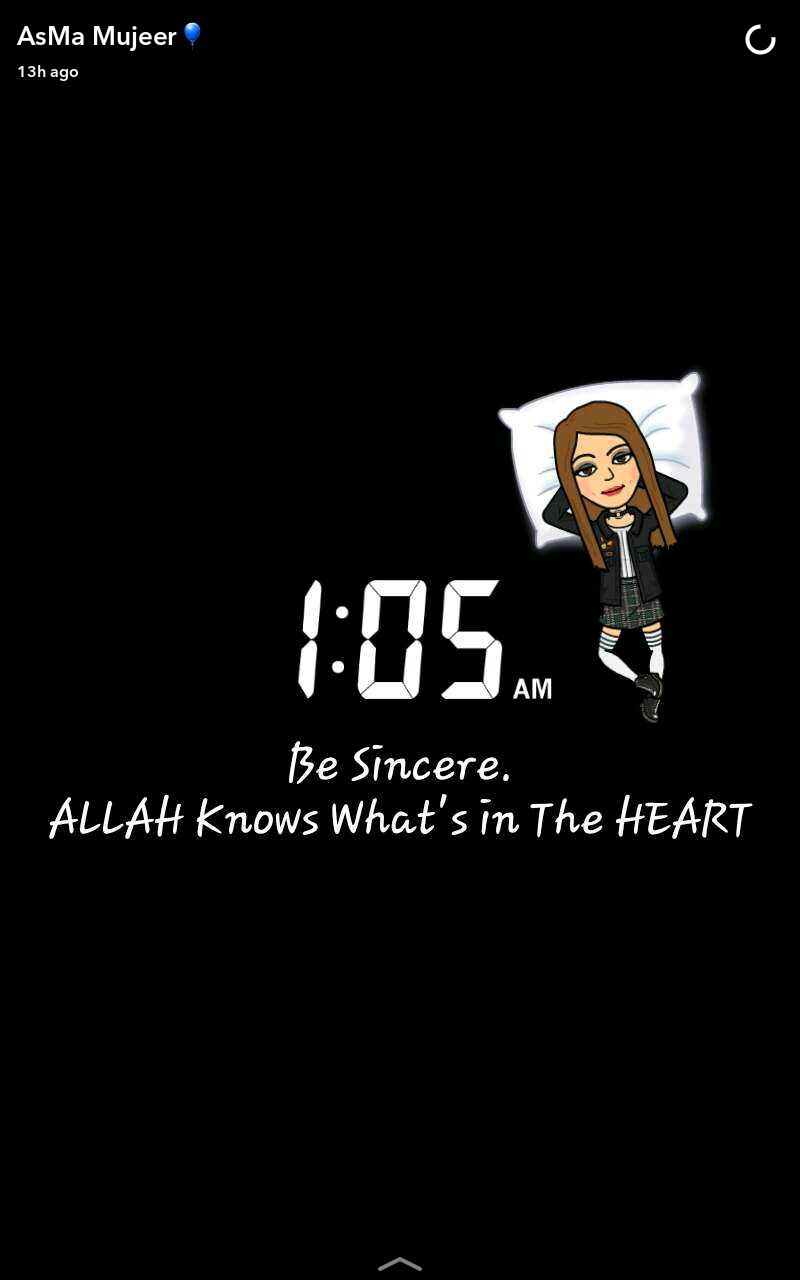 Be Sincere. ALLAH Knows What's in the Heart❤