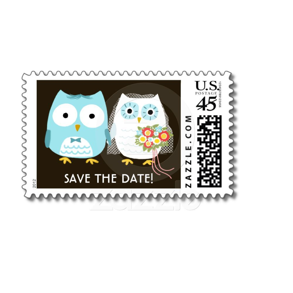 Owls Wedding Postage Stamps, Want it cheaper? Use this link for ...