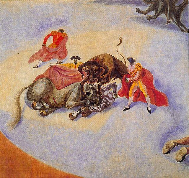 """André Masson. (Balagny-sur-Thérain, Francia. 1896 - 1987. Pintor  asociado al surrealismo y al expresionismo abstracto . """"Corrida"""" , 1936"""
