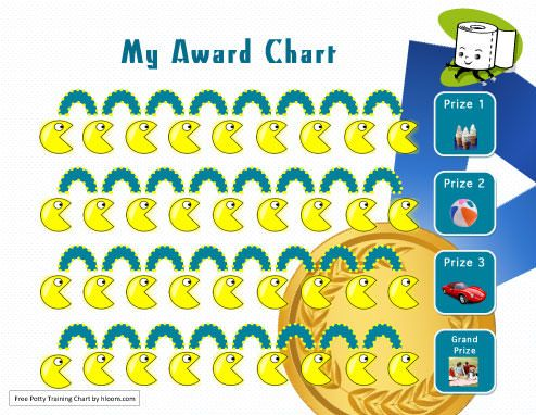 My Awards Potty Training Chart Template with prizes Potty Training - workout char template