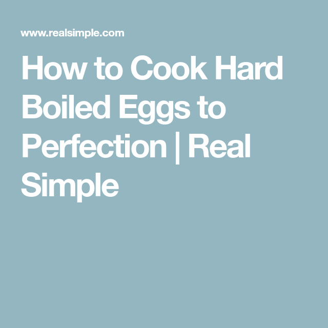 How to Cook Hard Boiled Eggs to Perfection
