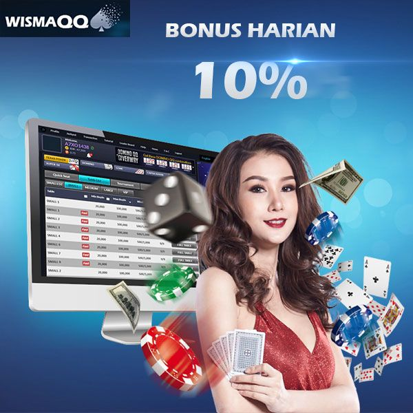 Dapatkan bonus harian sebesar 10% di situs poker online