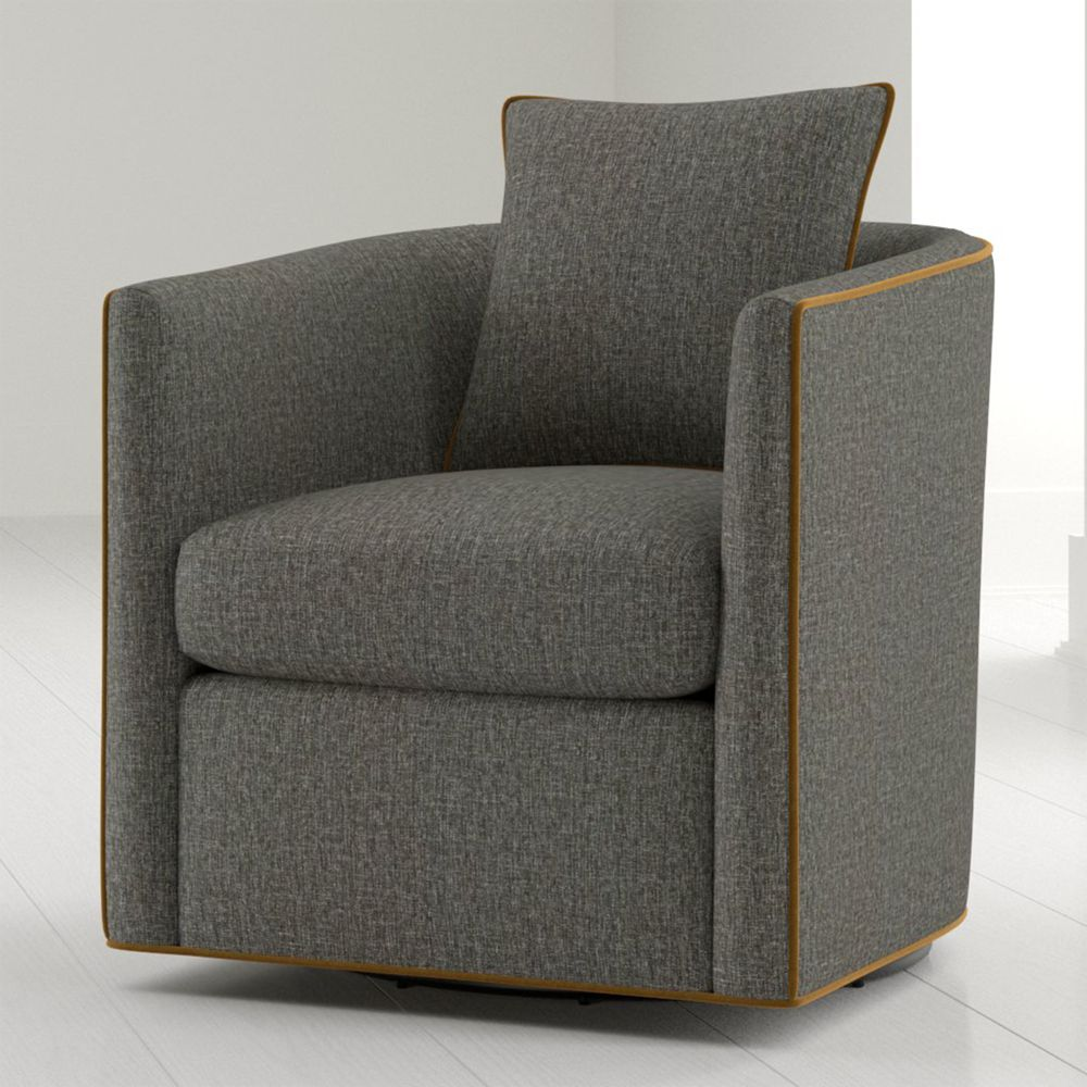 Drew Small Swivel Chair in 2020 | Small swivel chair ...