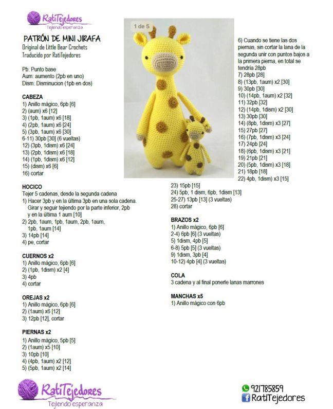 Pin de Clara Groetaers en Animalitos chicos a crochet en 2020 (con  imágenes) | Crochet amigurumi patrones, Ganchillo amigurumi, Patrones  amigurumi | 795x648