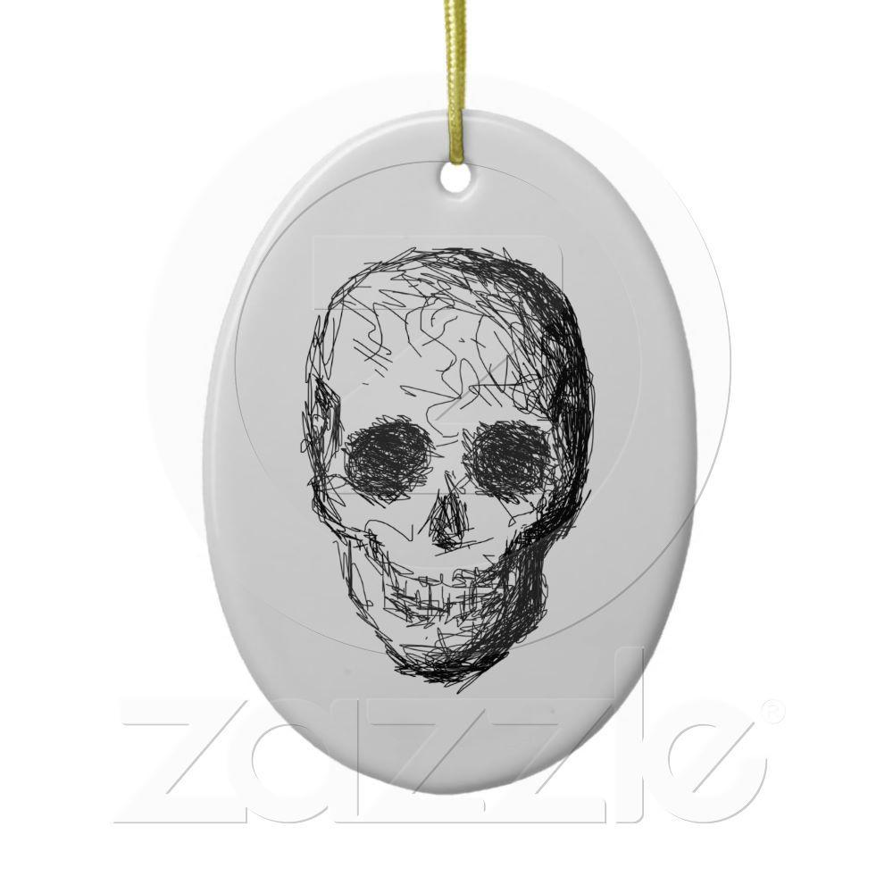 Black Skull. Christmas Ornament from Zazzle.com   Skulls   Pinterest ...