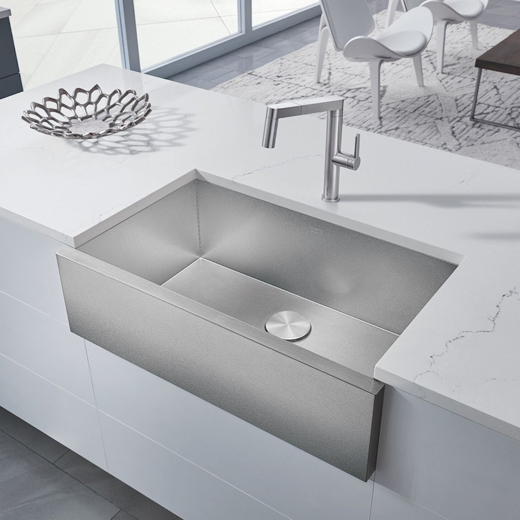 Blanco Precision R0 Durinox 32 Single Bowl Stainless Steel Farmhouse Apron Sink 524223 In 2020 Apron Sink Sink Farmhouse Apron Sink