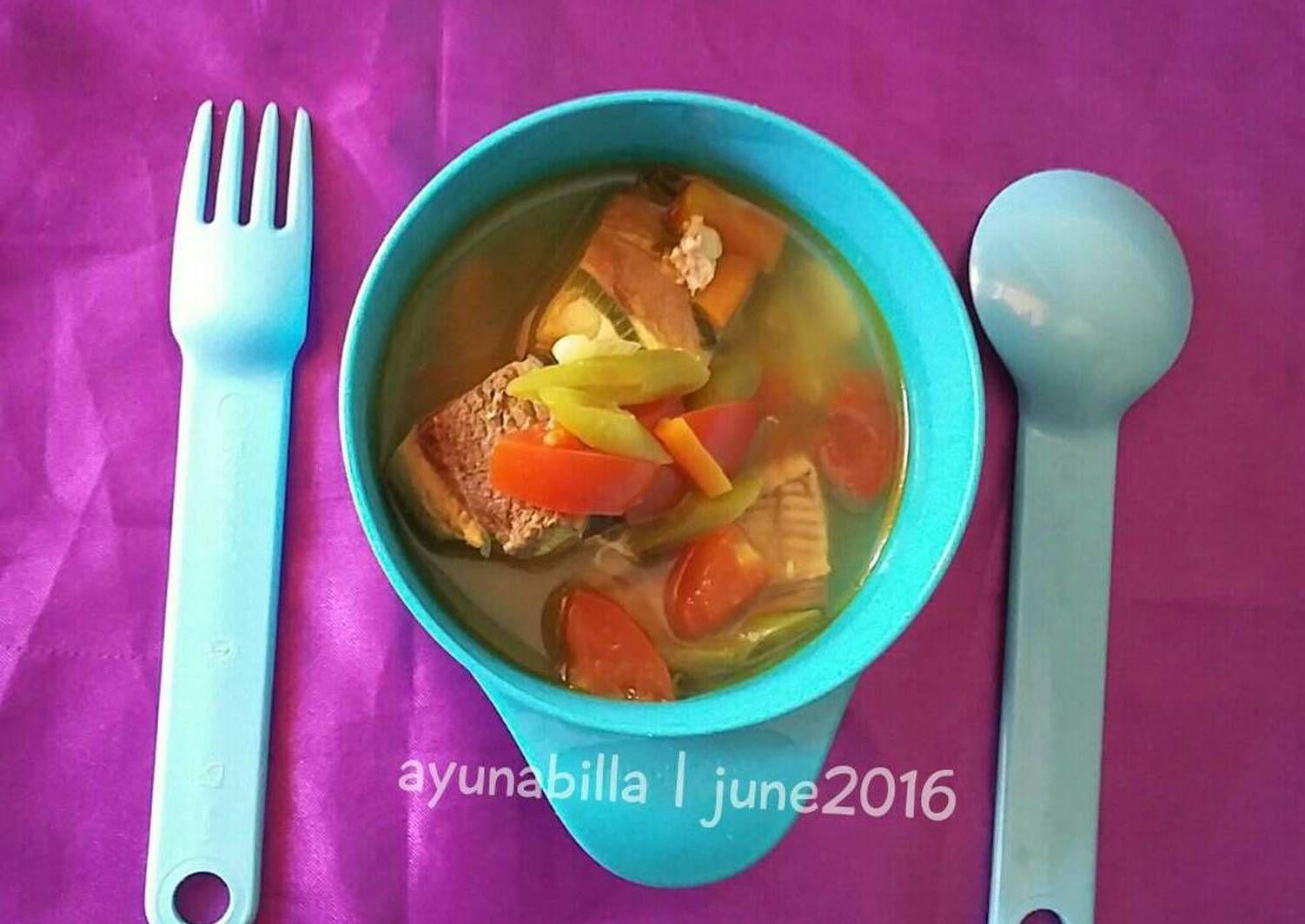 Resep Sup Ikan Wortel Buncis Special Mpasi 1y Oleh Ayunabillarumaropen Resep Sup Ikan Resep Makanan Bayi Resep