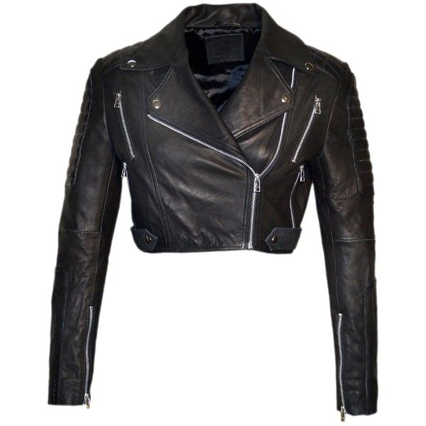 Ladies Cropped Short Length Leather Jacket Slim Fit Biker Style White NEW