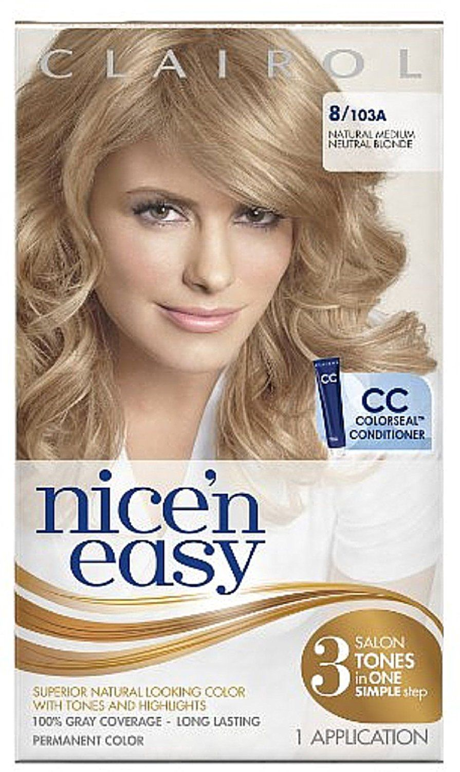 Nice N Easy Permanent Color Natural Medium Neutral Blonde 103a 1