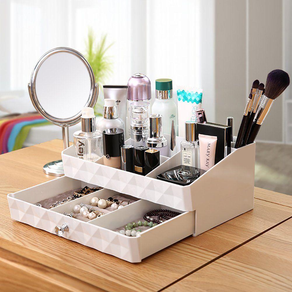 Cosmetic storage makeup organizerjewelry tray