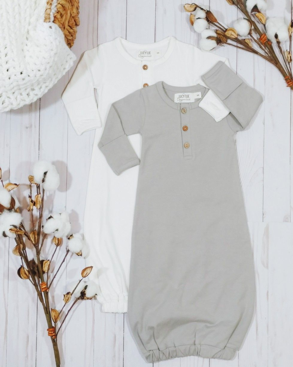 The softest most snuggly newborn gown to dress your babe in from