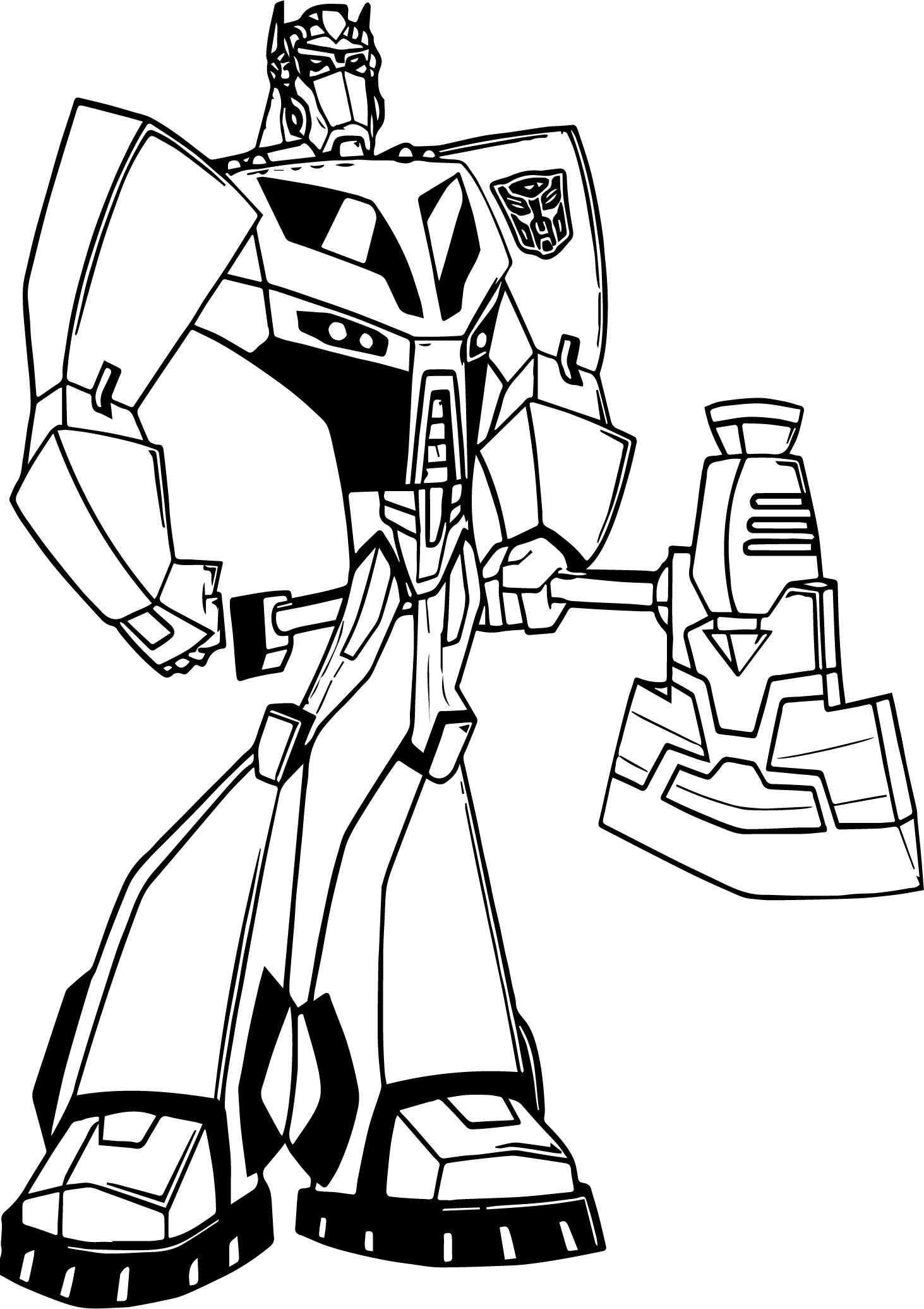 Awesome transformers blade coloring page color it my stress