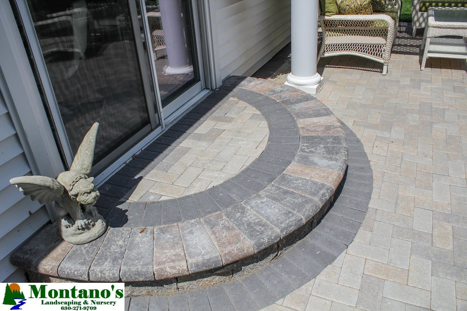 Best A Bordered Semi Circle Step Creates Grand Patio Entrance 400 x 300